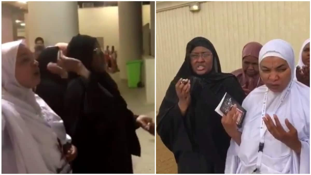 Image result for Aisha Buhari stoning the Devil in Mecca.