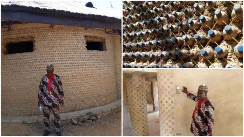 Yahaya Ahmed: Nigerian engineer builds house with 14,800 plastic bottles in Kaduna