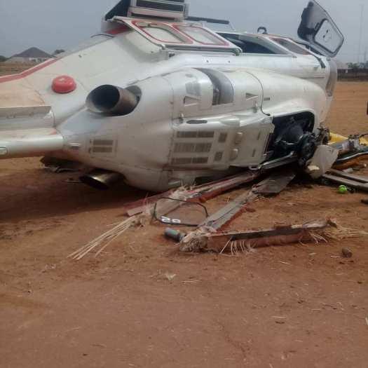 Breaking: Narrow escape for Osinbajo as VP's chopper crash-lands in Kabba