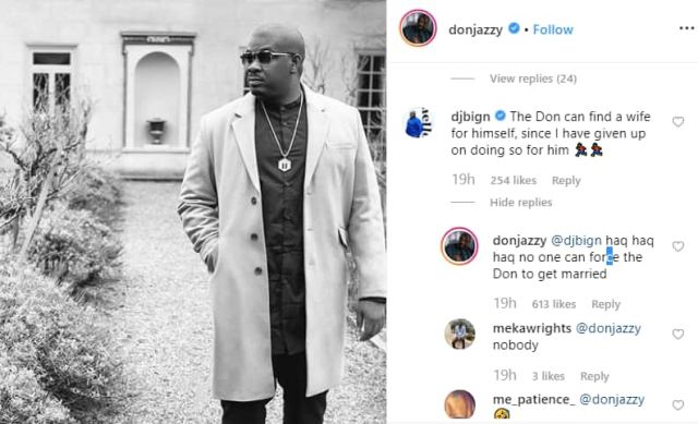 Don Jazzy claps hard at colleague who asked him to get a wife (screenshot)