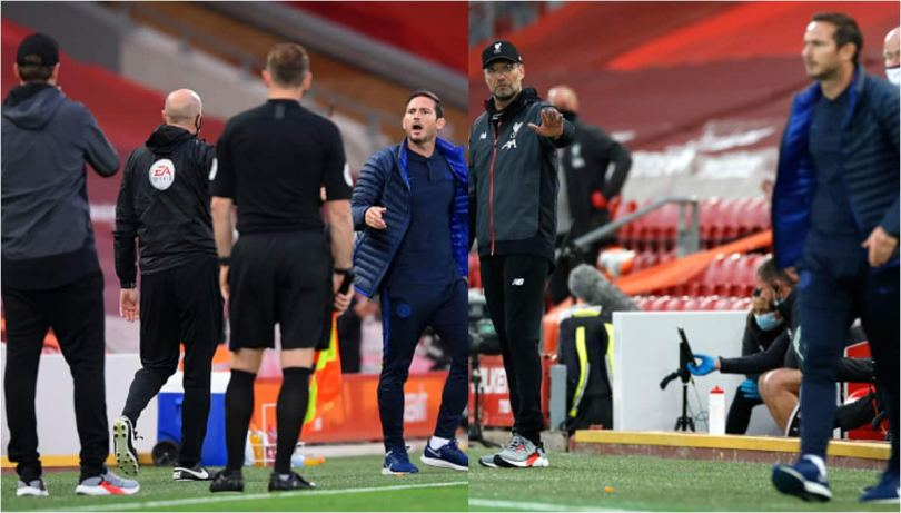 Frank Lampard uses foul language at Klopp during Chelsea's loss to Liverpool