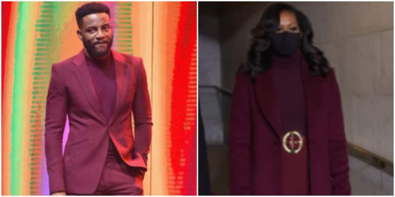 Who stole my belt? - Ebuka shares photo of matching outfit with Michelle Obama's inauguration look