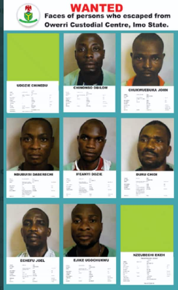 FG releases names, photos of inmates who escaped from Imo prison