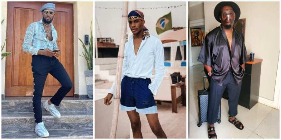 Nigerian celebrities in different looks.