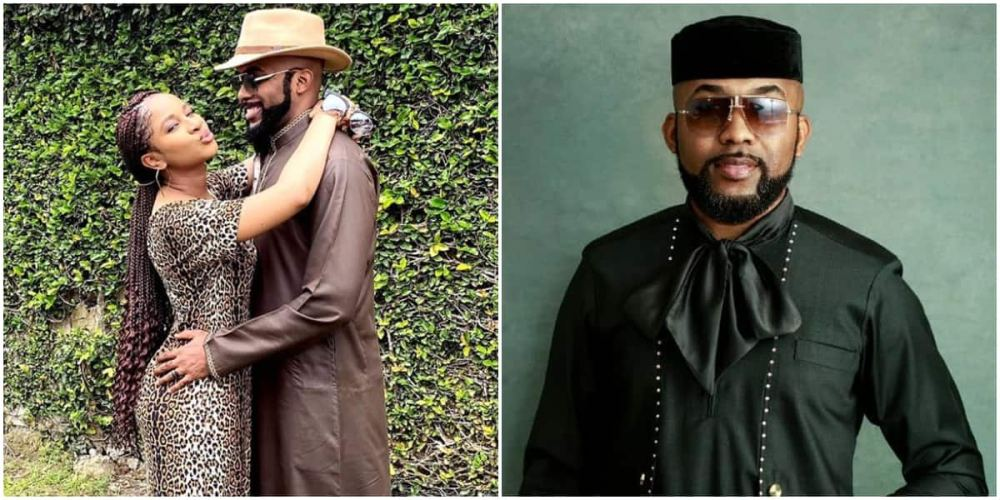 Banky W and wife Adesua wrap arms around each other in adorable photo, fans react