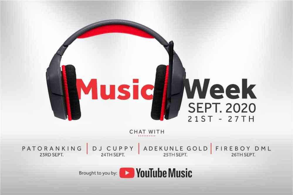 Patoranking, DJ Cuppy, Adekunle Gold, Fireboy DML hangout with fans to celebrate YouTube Music Week