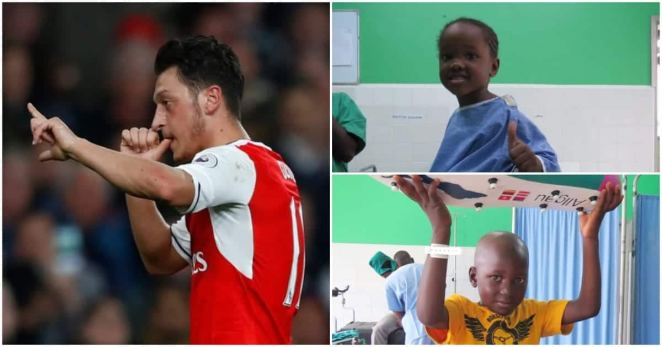 Image result for Mesut Ozil funds life-changing surgeries of 18 Ugandan children
