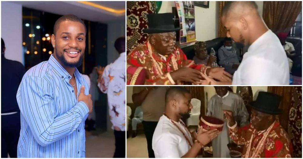 Actor Alexx Ekubo honoured with chieftaincy title in Imo state (video)