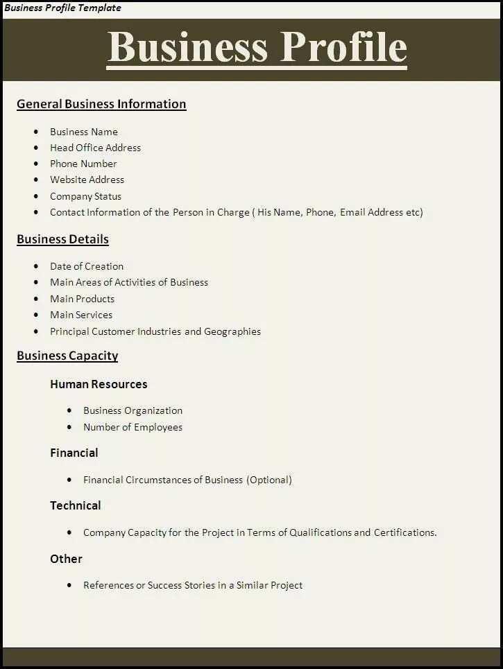 a company profile