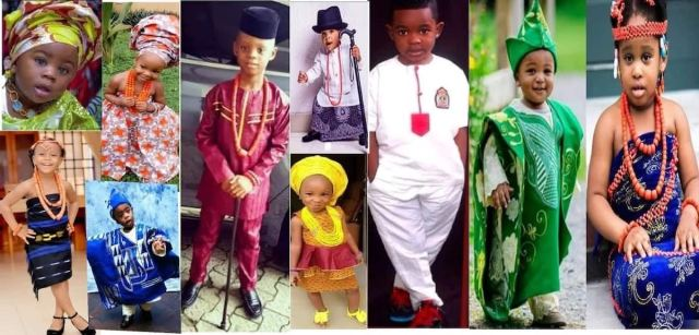 Fashion in Nigerian traditional styles: Children