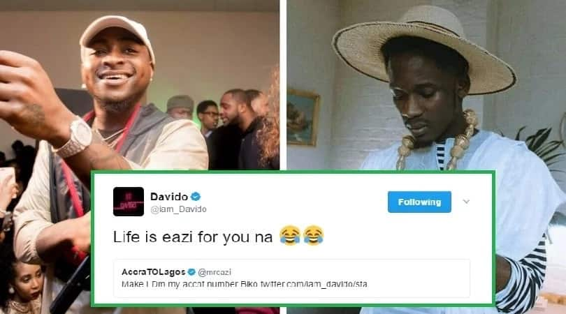 Image result for Mr. Eazi Asked Davido For Money On Twitter & Got This Reply