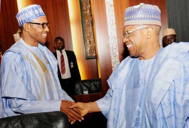 Image result for buhari and babangida shaking
