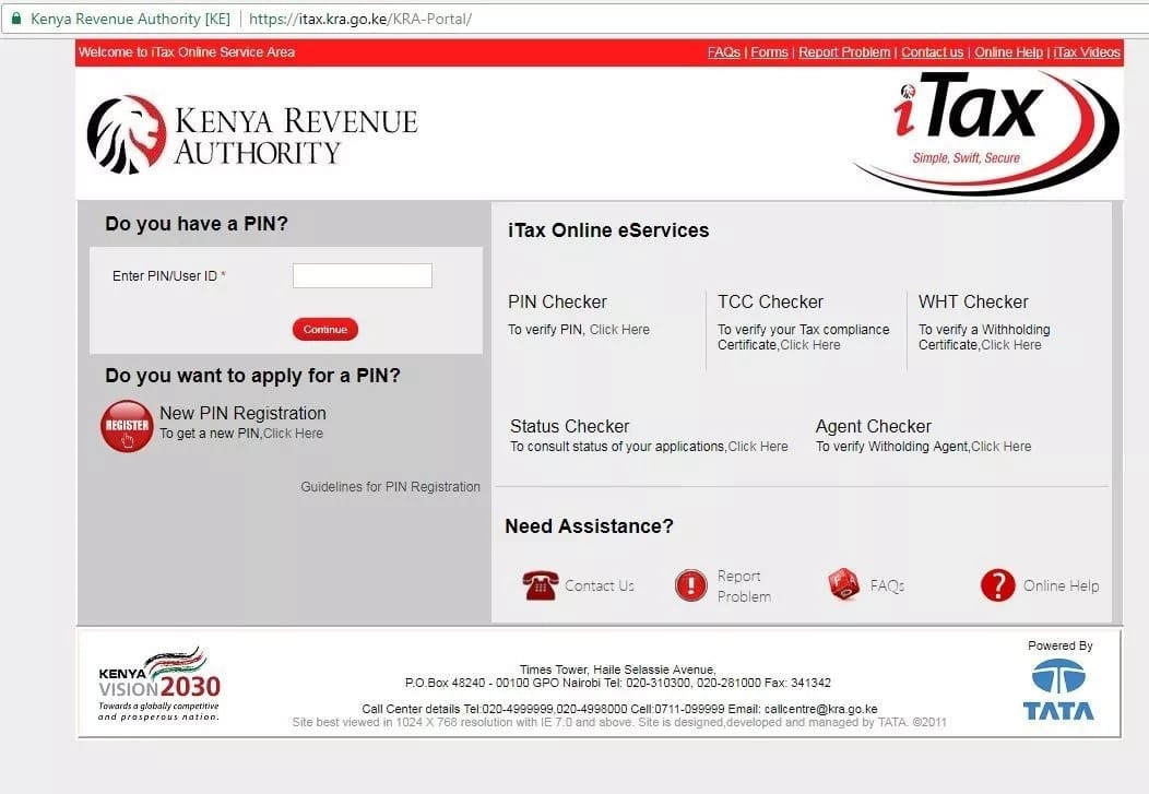 Image result for kra pin registration
