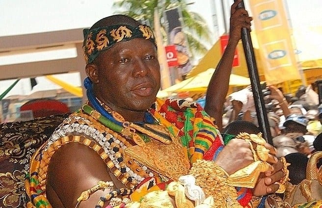 A king dressed in traditional attire
