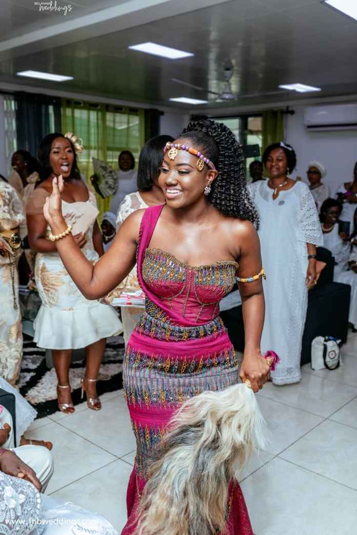 Beautiful traditional wedding photos drop as Ghanaian couple marry in grand style