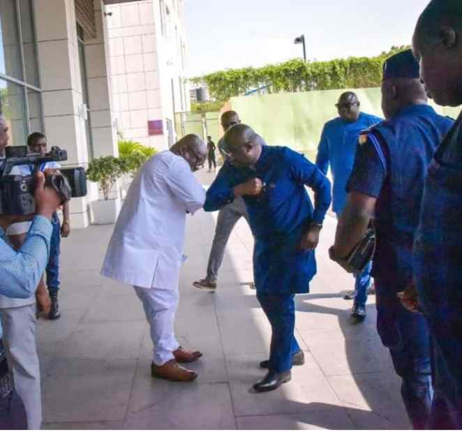 Image result for VIDEO: Ghana's Vice President, Bawumia's New 'Coronavirus Greeting Style' Gets Ghanaians Talking