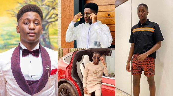 Saahene Osei: Despite's 17-year-old son Shows class in new Photos