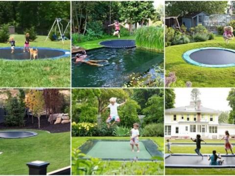 garten für kind trampolin im garten: spaß für kinder & erwachsene