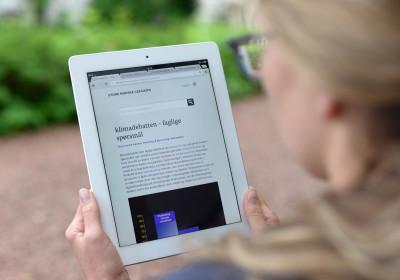 Store norske leksikon blir rekna som ei truverdig og påliteleg kjelde på internett. (Foto: Erik Dyrhaug)