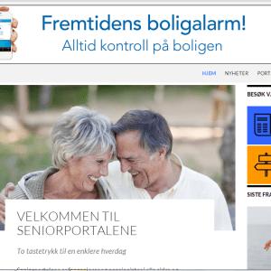 SeniorPortalene (skjermdump)