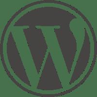 WordPress logo ingen tekst grå og hvit