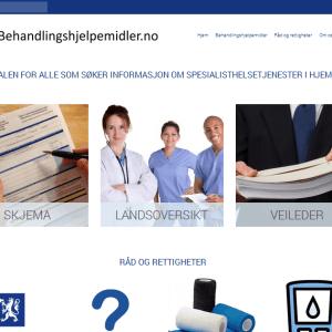 Behandlingshjelpemidler.no (skjermdump)
