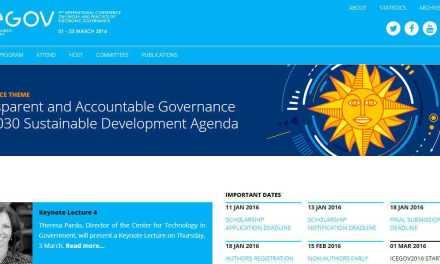 Montevideo será sede de la conferencia de la Universidad de las Naciones Unidas ICEGOV 2016