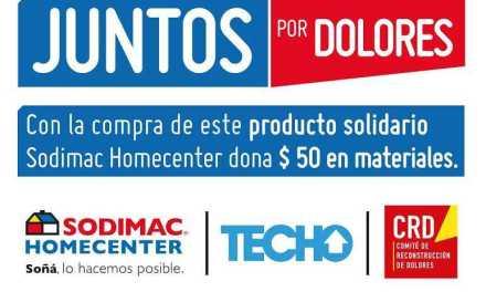 """Sodimac ofrecerá """"productos solidarios"""" para colaborar con la reconstrucción de Dolores"""