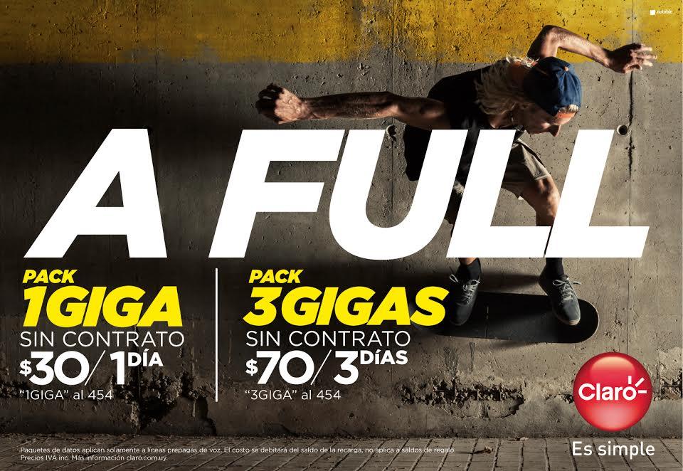 """Claro presenta sus nuevos packs prepagos y lanza campaña para comenzar el año """"A Full"""""""