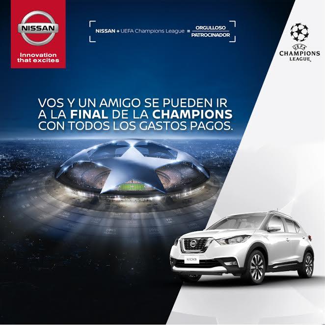 Nissan Uruguay invita a cuatro hinchas a la final de la UEFA Champions League