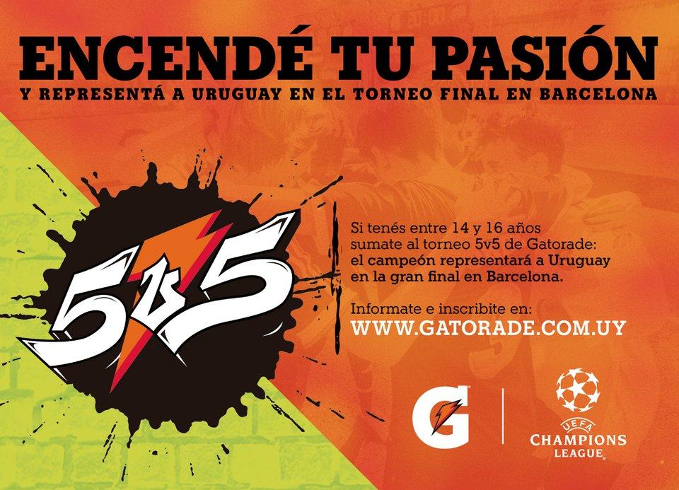 Uruguay busca un nuevo campeón del GATORADE® 5V5