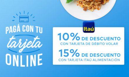 PedidosYa propone a sus clientes ahorrar en su plato favorito con los descuentos de Itaú