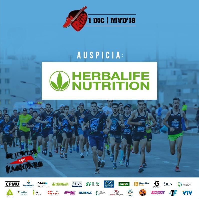 Herbalife Nutrition apoyará la segunda edición de Rock & Run Montevideo
