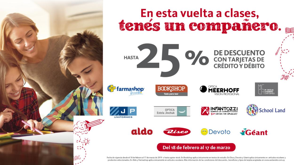 Santander acompaña la vuelta a clases con importantes beneficios para sus clientes