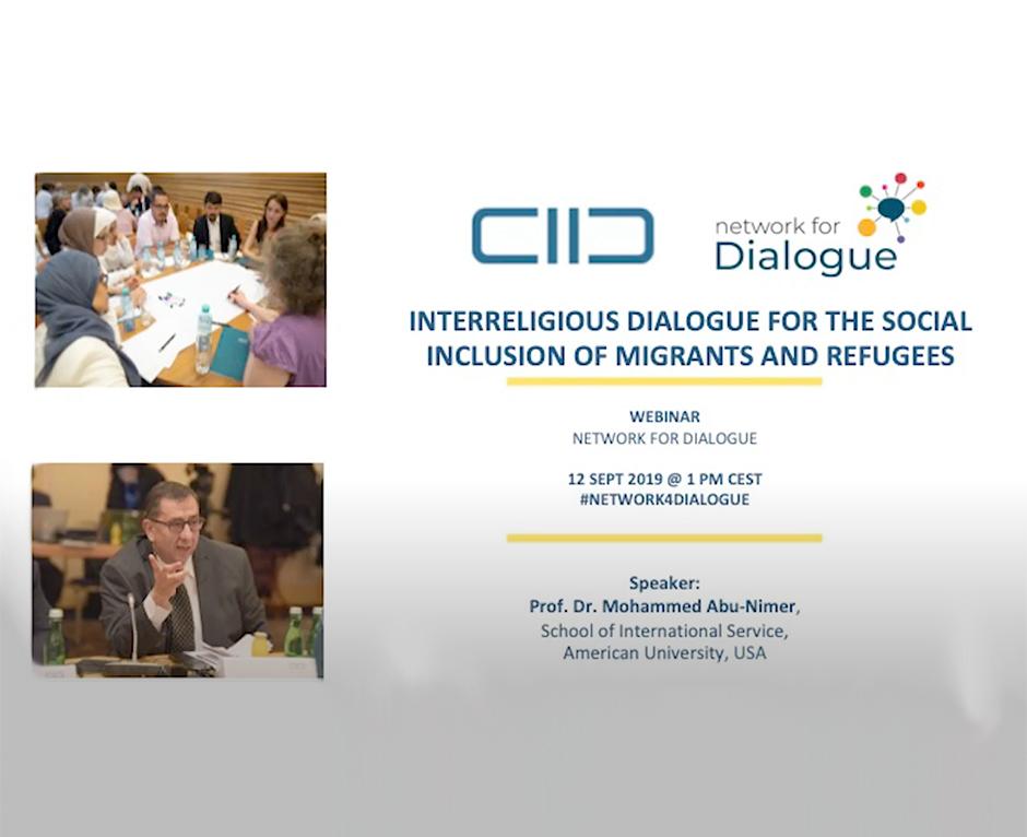 interreliguos dialogue for social inclusion of migrants and refugees - webinar