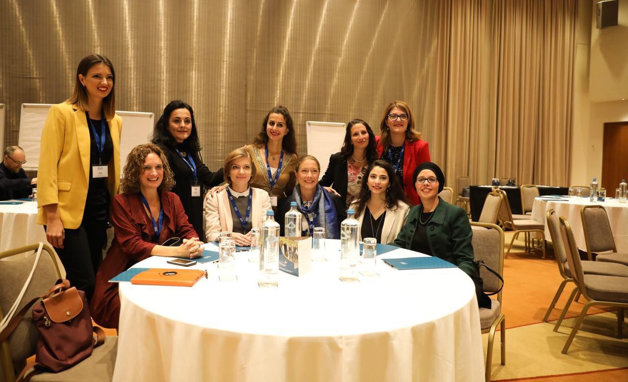 Women of the Network for Dialogue team at the 1st European Policy Dialogue Forum, Athens, Greece - October 2019