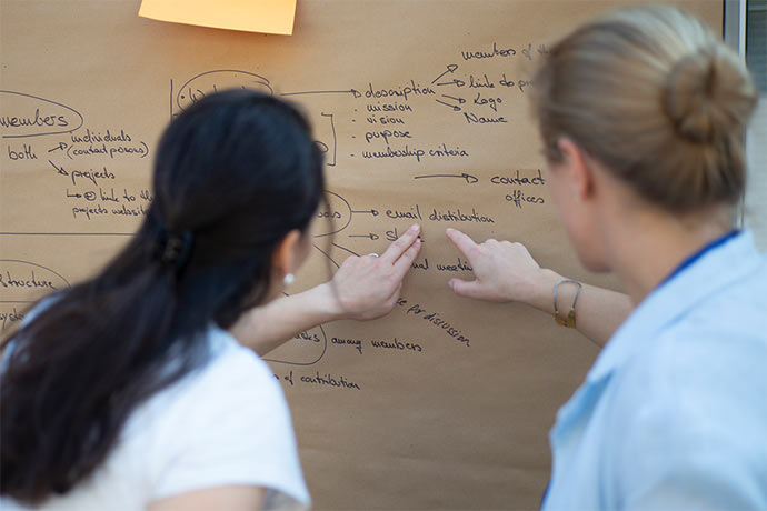 two women working on idea - social inclusion