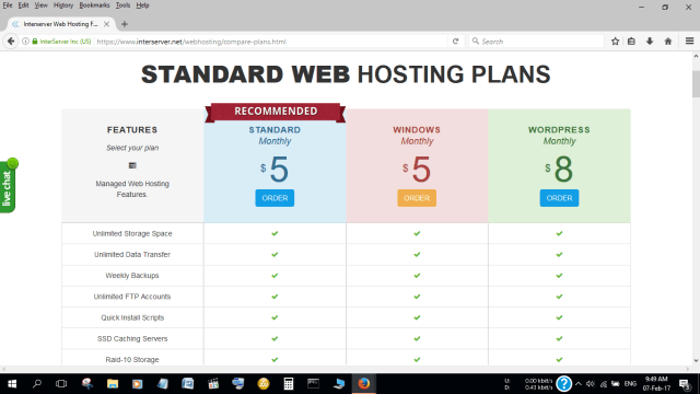 InterServer is one of the cheapest webhosts in the world