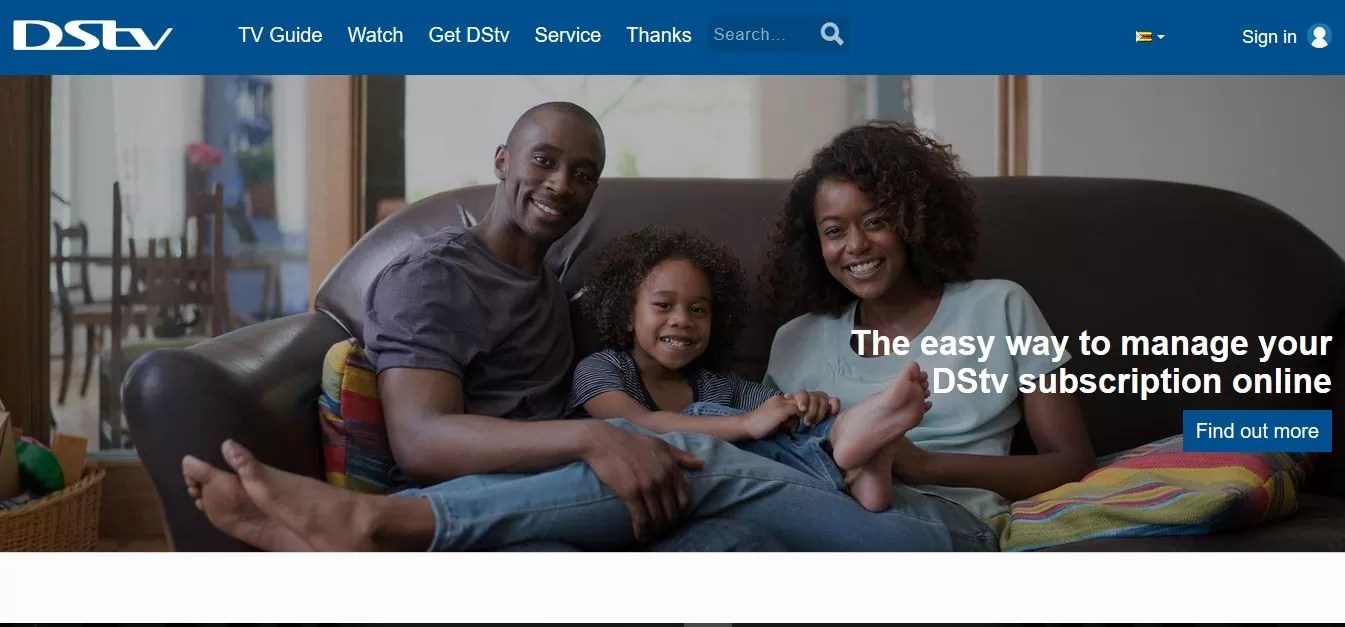 online dstv payments from zimbabwe