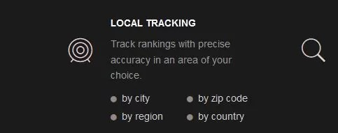 RankTrackr comes with accurate local tracking