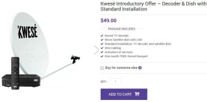 Buy Kwese TV's Installation Kit Online