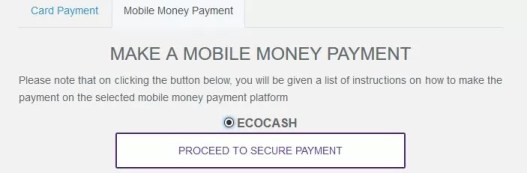 Pay for Kwese through Ecocash