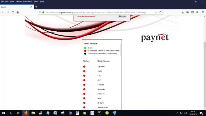 Paynet Zimbabwe has suspended services to Zimbabwean banks