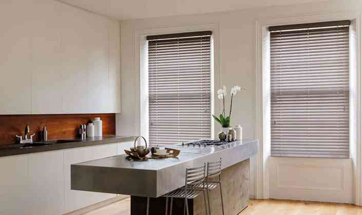 Wood and Faux Wood Venetian Blinds
