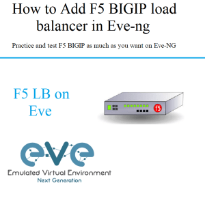 how to add f5 bigip load balancer on eve-ng