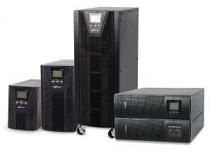 serie di UPS Third Power, da sinistra version Tower 1-5KVA, 5-10KVA Tower, 10,20KVA e rack 1-10KVA