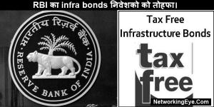 RBI का infra bonds निवेशको को तोहफा।