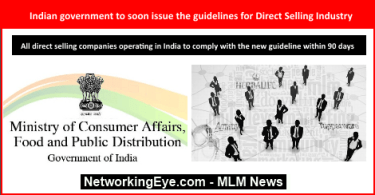 Indian government to soon issue the guidelines for Direct Selling Industry