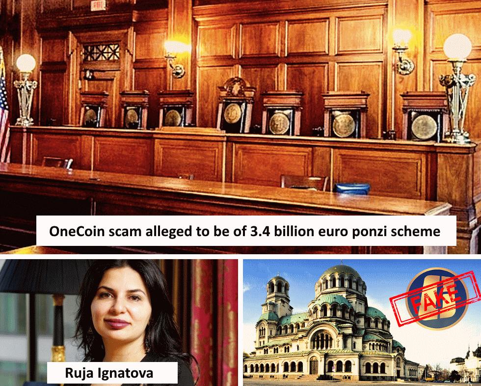 OneCoin scam alleged to be of 3.4 billion euro ponzi scheme
