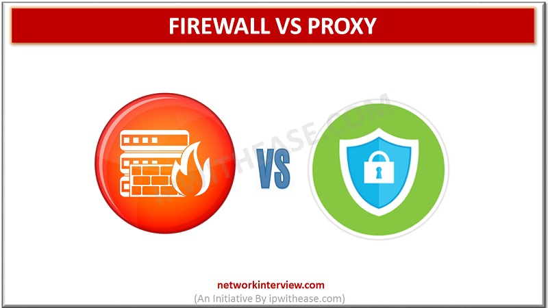 FIREWAALL VS PROXY